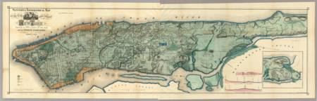 Vintage Map of New York City (1865)