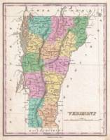 Vintage Map of Vermont (1827)
