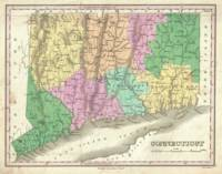 Vintage Map of Connecticut (1827)