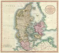 Vintage Map of Denmark (1801)