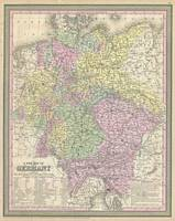 Vintage Map of Germany (1853)