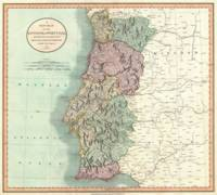 Vintage Map of Portugal (1801)