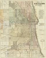 Vintage Map of Chicago (1857)