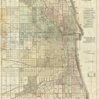 """Vintage Map of Chicago (1857)"" by Alleycatshirts"