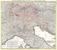 Vintage Map of Northern Italy (1720)