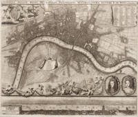 Vintage Map of London England (1693)