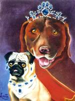 Pug and Lab Royalty