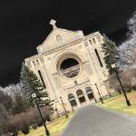 """St Boniface Cathedral, Winnipeg, Manitoba, Canada"" by Jeffpeters"