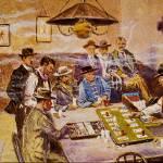 """""""Faro Layout in Mint Saloon"""" by ArtLoversOnline"""