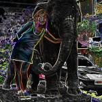 """the good luck elephant and baby"" by DMT"