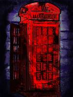Grungy old London telephone box