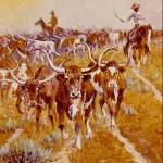 """Texas Longhorns"" by ArtLoversOnline"