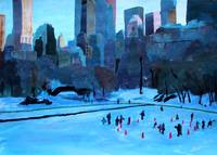 New York City - Central Park Winter Ice