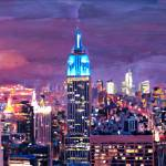 """Empire State Building Feeling Like A Blue Giant"" by arthop77"