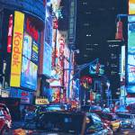 """New York City Times Square Traffic And City Lights"" by arthop77"