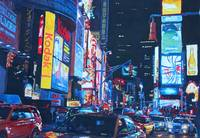 New York City Times Square Traffic And City Lights