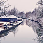 """Punts by the River Cam, Cambridge, UK"" by jmpaget"