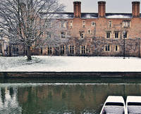 Magdalene College, Cambridge in the Snow
