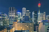 Sydney Tower and Cityscape at Night