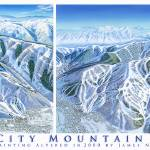 """Park City Mountain Utah"" by jamesniehuesmaps"