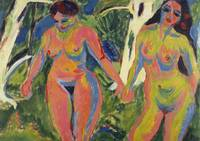 Two Nude Women in a Wood, 1909 (oil on canvas)