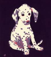 Dalmation Puppy, 1950s (gouache on paper)