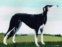 Saluki Cross, 1991 (acrylic on canvas)