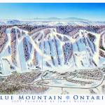 """Blue Mountain Ontario"" by jamesniehuesmaps"