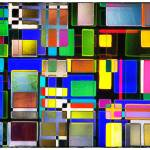 """Stained Glass Window II Multi-Colored Abstract"" by NatalieKinnear"