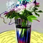 """Flowers In A Blue Vase Version Two"" by michaelandersonartprints"