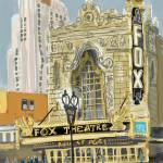 """Fabulous Fox, St. Louis"" by michaelandersonartprints"