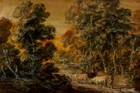 Wooded Landscape with Herdsman and Cattle, c.1770