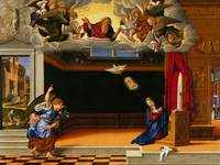 The Annunciation, c.1540 (oil on panel)