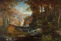 A Scene on the Tohickon Creek: Autumn, 1868 (oil o
