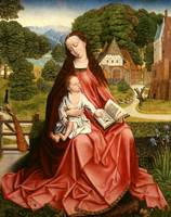Virgin and Child in a Landscape, c.1492-98 (oil on