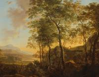 Wooded Hillside with a Vista, c.1645 (oil on canva