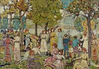 Holidays, c.1920 (oil on canvas)