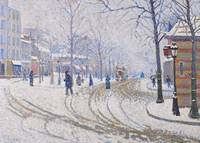 Snow, Boulevard de Clichy, Paris, 1886 (oil on can