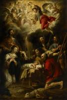 The Adoration of the Shepherds, 1657 (oil on canva