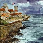 """Marseille France Watercolor and Ink"" by GinetteCallaway"