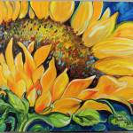 """SUNFLOWER SEPTEMBER"" by MBaldwinFineArt2006"