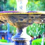 """Colorful New Orleans Fountain"" by Groecar"