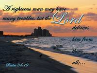 sunrise at beach with scripture