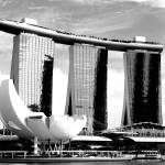 """marina bay sands Singapore bw"" by sghomedeco"