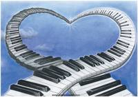music-of-love-piano-love-heart-blue-sky-symbolism-