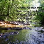 """Running Stream with Psalm 34:19"" by PjCreates"