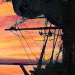 """H.M.S. Surprise San Diego Sunset"" by BeaconArtWorksCorporation"