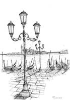 San Georgio Venice Italy Pen & Ink