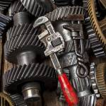 """Old wrenches on gears"" by photogarry"