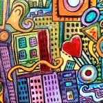 """Pretty City"" by paintingsbygretzky"